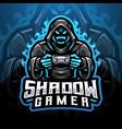 shadow gamer esport mascot logo vector image vector image