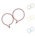 Speech bubble Set of line icons vector image