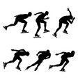 sport set ice speed skating vector image vector image
