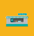 stall sells fast food flat vector image vector image