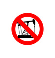Stop pump oil It is forbidden to pump oil Frozen vector image