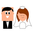 sweet wedding on white background vector image vector image