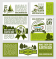 templates earth day nature protection event vector image vector image