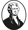 thomas jefferson president united states vector image vector image