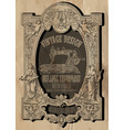 vintage frame tee graphic design vector image vector image