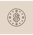 Wall clock with dollar symbol sketch icon vector image vector image
