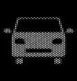 white halftone car icon vector image