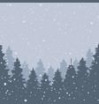 winter landscape falling snow vector image