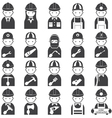 Worker Craftsman Symbol Icons Set vector image