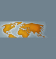 world map horizontal banner retro vintage style of vector image vector image