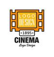 creative cinema or movie logo template design vector image