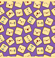 cute smiley face seamless pattern background vector image