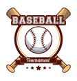baseball sport tournament poster vector image