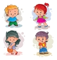 Children Boys and girls vector image