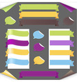 Set Ribbons And Labels vector image