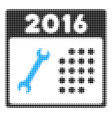 2016 service calendar halftone icon vector image