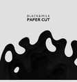 3d layers of paper cut the background of milk vector image