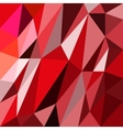 abstrack triangles red background vector image