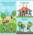 active grandparents outdoor compositions vector image vector image