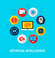artificial intelligence concept icons vector image vector image