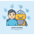 artificial intelligence design vector image vector image