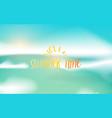 beautiful seascape panorama blue ocean and sky vector image