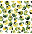 Black olive fruits with oil drops seamless pattern vector image vector image