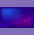 blue and purple halftone wavy background vector image