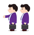 Boss go to working vector image