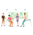 business meeting office concept flat cartoon vector image vector image