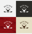 butcher shop icon butcher shop logo vector image