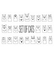 cat set for greeting card vector image vector image