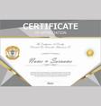 certificate retro design template 4 vector image vector image
