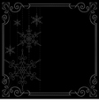 Christmas background frame decorated with vector image
