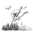 city sketch vector image vector image