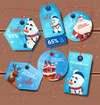 collection of colorful holiday shopping tags vector image