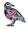 Colorfull cool crow vector image vector image