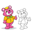 Cute bear cartoon mascot vector image