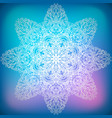 decorative ornament snowflake vector image