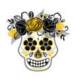 dia de los muertos day dead design vector image