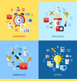 digital blue red work space icons vector image vector image
