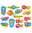 do you know label sticker with did vector image