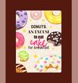 donut doughnut food glazed sweet dessert vector image
