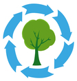 eco green tree vector image vector image