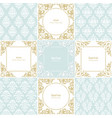 elegant frames and damask seamless patterns set vector image vector image