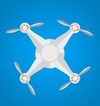 Flat icon for gray quadrocopter vector image vector image
