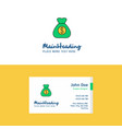 flat money bag logo and visiting card template vector image vector image