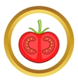 Fresh red tomato icon vector image vector image