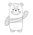 Funny bear children animal for book t-shirt print vector image vector image