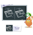 game find 9 differences draw vector image vector image